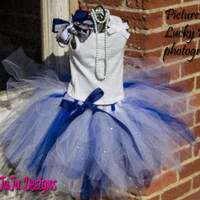 Dallas Cowboys Tutu, 4T - 6T, Custom Birthday Tutu, Photo Prop Tutu, Infant Toddler Children Flower Tutu, Party Tutu