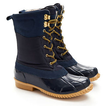 Navy Carrick Womens Muck Boot  | Joules US