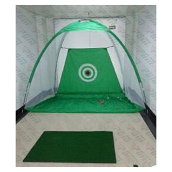Golf Net Practice  Exercises Driving Chipping Soccer Cricket + Mat + balls   green