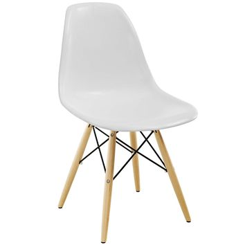Pyramid Dining Side Chair White EEI-180-WHI