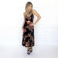 The Way You Look Tonight Floral Midi Dress