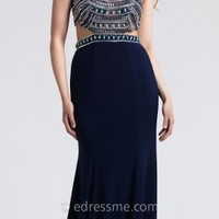 Two Piece Beaded Bodice Prom Dress By Dave And Johnny