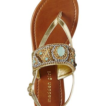 Madden Girl Raive Gemstone Flat Thong Sandals