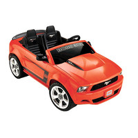 Power Wheels Ford Boss 12-Volt Mustang - Orange - Power Wheels (Fisher-Price) 1011462 - Powered Riding Toys - FAO Schwarz®