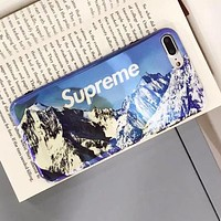 Supreme New Popular Snow Mountain Pattern Print All-Inclusive Soft Mobile Phone Case For iphone 6 6s 6plus 6s-plus 7 7plus iPhone8 iPhone X I12919-1