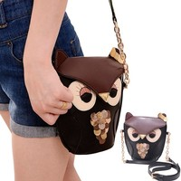 Leegoal Owl Satchel Messenger Women Shoulder Bag Cute Girls Handbag Cross Body Purse Bag