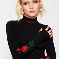 Loveless Embroidered Crop Longsleeve