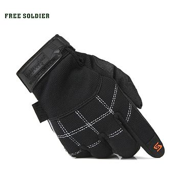 outdoor sport hiking camping riding climbing tactical gloves wear-resisting full finger men's gloves