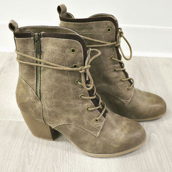 Rose Woods Taupe Suede Ankle Boots