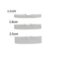 Diamond Pave Choker Necklace - Available in 9mm, 16mm, and 25mm
