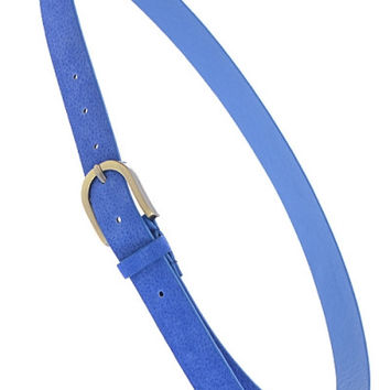 Cobalt Blue Antique Buckle Belt