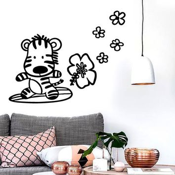Wall Stickers Zebra Nursery Animal Baby For Kids Baby Vinyl Decal Unique Gift (ig1590)
