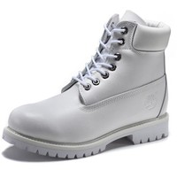 Best Deal Online Timberland 10061 Leather Lace-Up Boot Men Women Shoes White