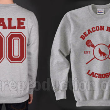 Hale 00 Beacon Hills Lacrosse Teen Wolf Crewneck Sweatshirt Heather Grey