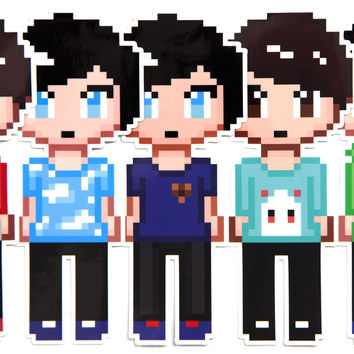 Dan and Phil Pixel Sticker Pack - Series 2