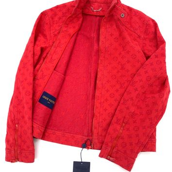 Kuyou Gf19831 Louis Vuitton Lv Ready-to-wear Coats And Outerwear Monogram Soft Denim Jacket