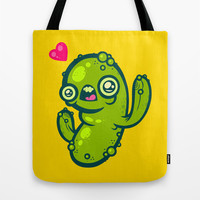 Pickled Cactus Tote Bag by Artistic Dyslexia