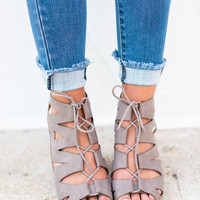 Make It Count Heeled Sandals, Taupe