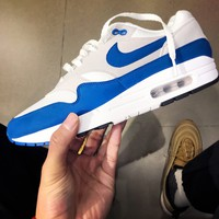 NIKE AIR MAX 1 Anniversary  Sports Shoes Women Men Sneakers Blue