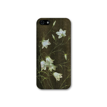 iPhone 6 Case Wildflower Wood Print iPhone Case, Floral Wood Print on Plastic Case - iPhone 5, 5S, 5C Case, Faux Wood iPhone 6 Case