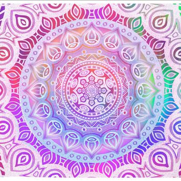 Chakra Neon Colorful Mandala Tapestry Purple Distressed Tapestry Wall Hanging Meditation Yoga Grunge Hippie