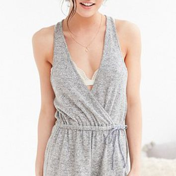 Out From Under Cosy Charlie Grey Playsuit - Urban Outfitters
