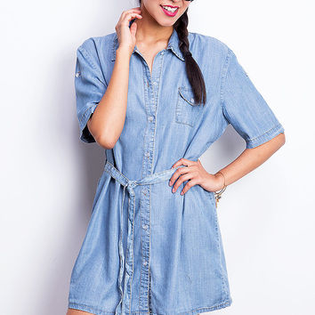Chill Denim Shirt Dress