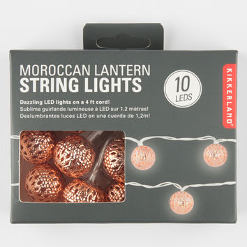Kikkerland Moroccan Lantern String Lights Copper One Size For Women 27096644001