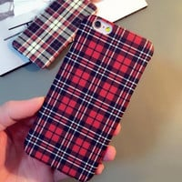 Retro Grid Solid Case Cover for iPhone 6 6s Plus Gift 26