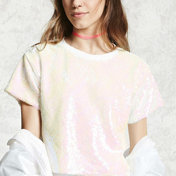 Iridescent Sequin Top