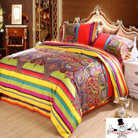 Colorful Design Pattern Bedding Set and Quilt Cover
