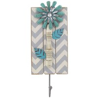 Turquoise, White & Gray Chevron Wall Hook | Shop Hobby Lobby