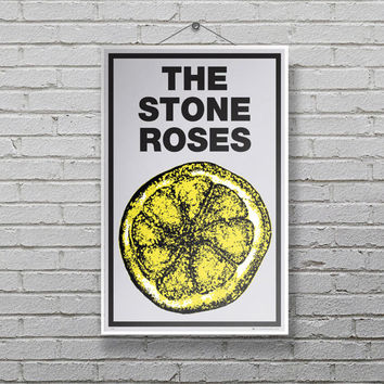 The Stone Roses Poster Music Poster EP lemon Print OFFICIAL Movie LP8