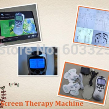 Lcd Blue screenTens/Acupuncture/Digital Therapy Machine Massager electronic pulse massager health care equipment