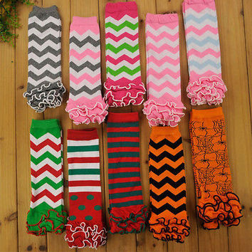 Christmas Leg Warmers Baby Kids Toddlers Girls Knee High Socks Tights Leg Warmer Stockings For Age 0-6