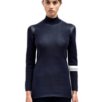 Y-3 Womens Roll Neck Knitted Top