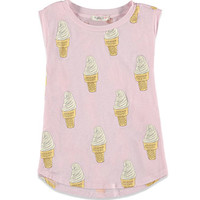 Ice Cream Graphic Muscle Tee (Kids)