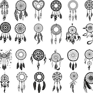 Dreamcatcher vector files instant download clip art svg. cdr, eps and dxf files for cricut silhouette, serigraphy, sublimation and more