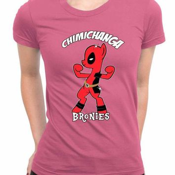455e3424d39 CREYH9S Chimichanga Bronies Deadpool My Little Pony WoMen T Shir