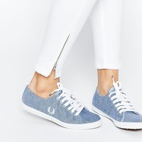 Fred Perry Kingston Two Tone Pique Plimsoll Trainers