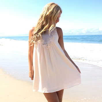 Yours Truly Dress In Cream