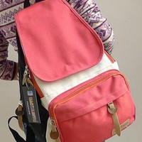 Leisure Simple Leisure Mixing Color Backpack