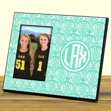 Personalized Photo Frame Monogram Lotta Lax | Lacrosse Photo Frames | Lacrosse Picture Displays