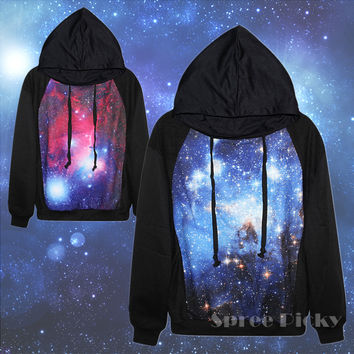 Galaxy Printing Hoodie Jumper Pull Over Top Sweater SP141450