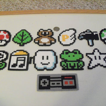 Mario 3 Item Magnet Set 13 pieces by LighterCases on Etsy