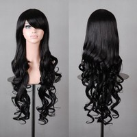 "32"" 80cm Spiral Curly Cosplay Costume Wig"