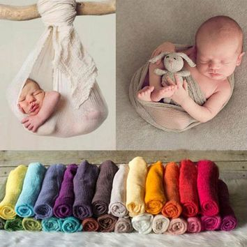 ESBONJ Newborn Photography Props Infant Costume Outfit 180cm Long Cotton Soft Photo Wrap Matching Baby Photo Props fotografia