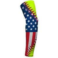 USA Flag Softball Lace Arm Sleeve M