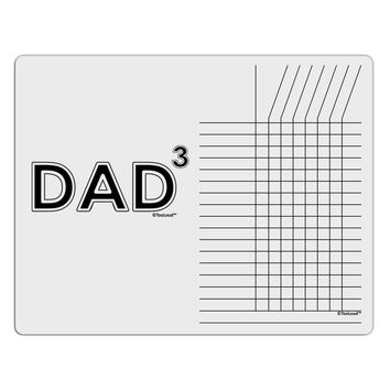 Dad Cubed - Dad of Three Chore List Grid Dry Erase Board
