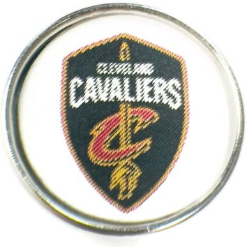 NBA Basketball Logo Cleveland Cavaliers 18MM - 20MM Fashion Snap Jewelry Snap Charm New Item